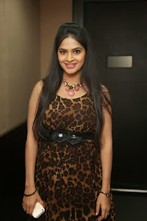 Madhumita in Leopard Print Gown at Maine Pyar Kiya event at Red FM
