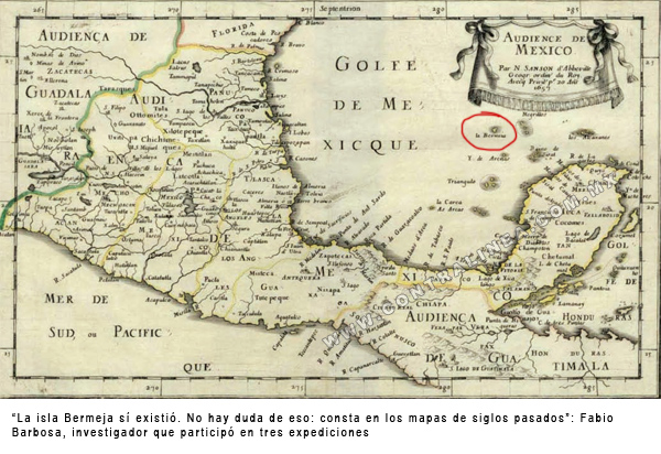 MAPA ISLA BERMEJA MEXICO