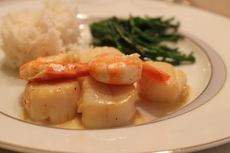La cuisine de christelle noix de st jacques et gambas - Cuisiner les salicornes ...