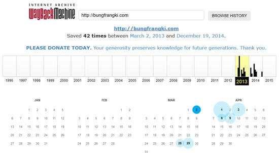 Melihat History Sebuah Blog dari Pertama Online Sampai Sekarang