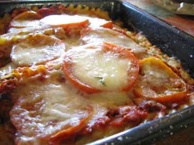 Tomato 'Mushroom Meat' Lasagna