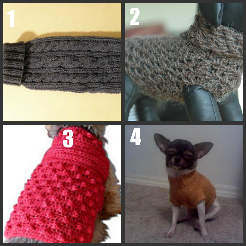 Knitted Dog Sweaters Free Patterns : Dog Sweater to Knit/Crochet Roundup Part 1