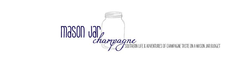 mason jar champagne