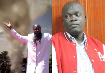 Prophet David Awuor and Blogger Robert Alai