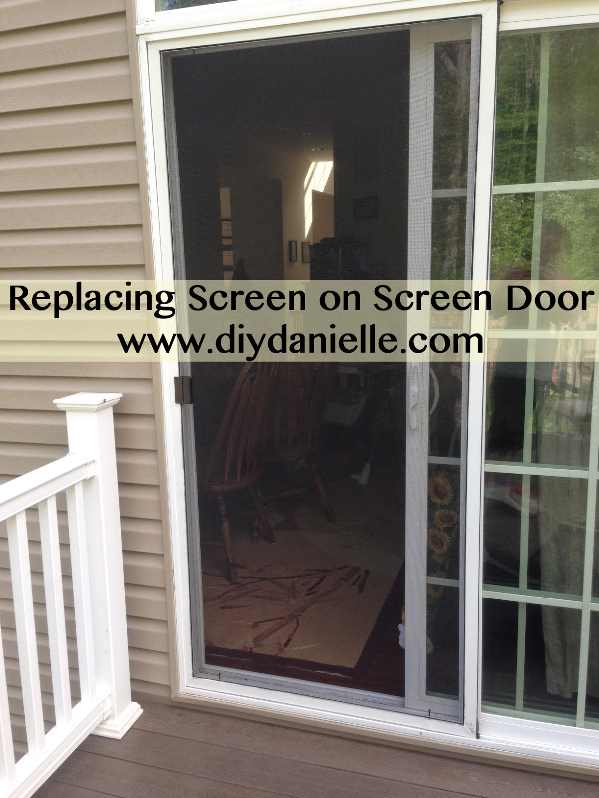 Easy Home DIY: Replacing Screen on Screen Door
