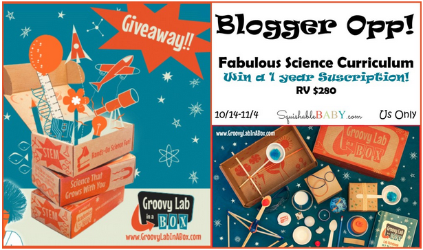 Blogger opp Grovy Lab in a box 1 year subscription giveaway - homeschool