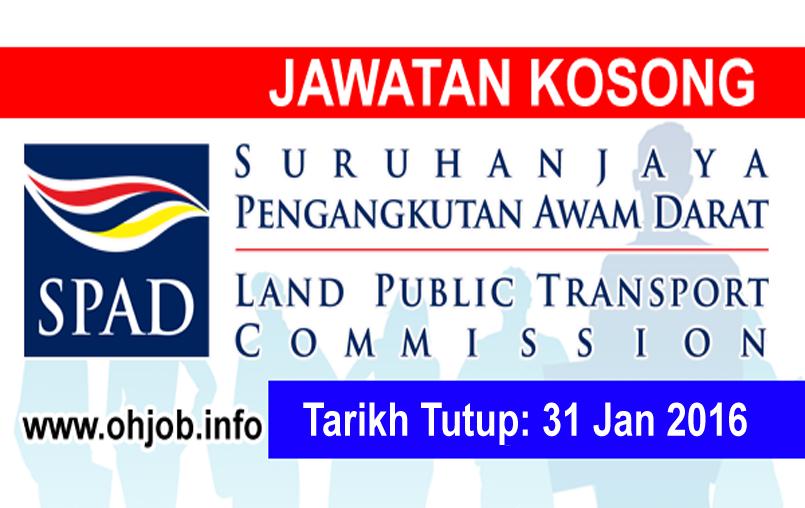 Jawatan Kerja Kosong Suruhanjaya Pengangkutan Awam Darat (SPAD) logo www.ohjob.info januari 2016