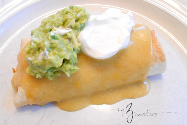 Yummy {and easy!} Chicken Chimichangas recipe at my3monsters.com