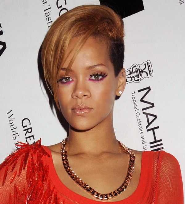 Hairstyles Rihanna Brown Hair With Undercut Hairstyle
