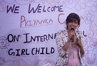 Priyanka Chopra at the Holy Mother School, Mumbai