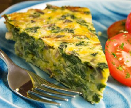 ... , Sweet, Classy and Sassy: Crustless Spinach, Onion & Feta Quiche
