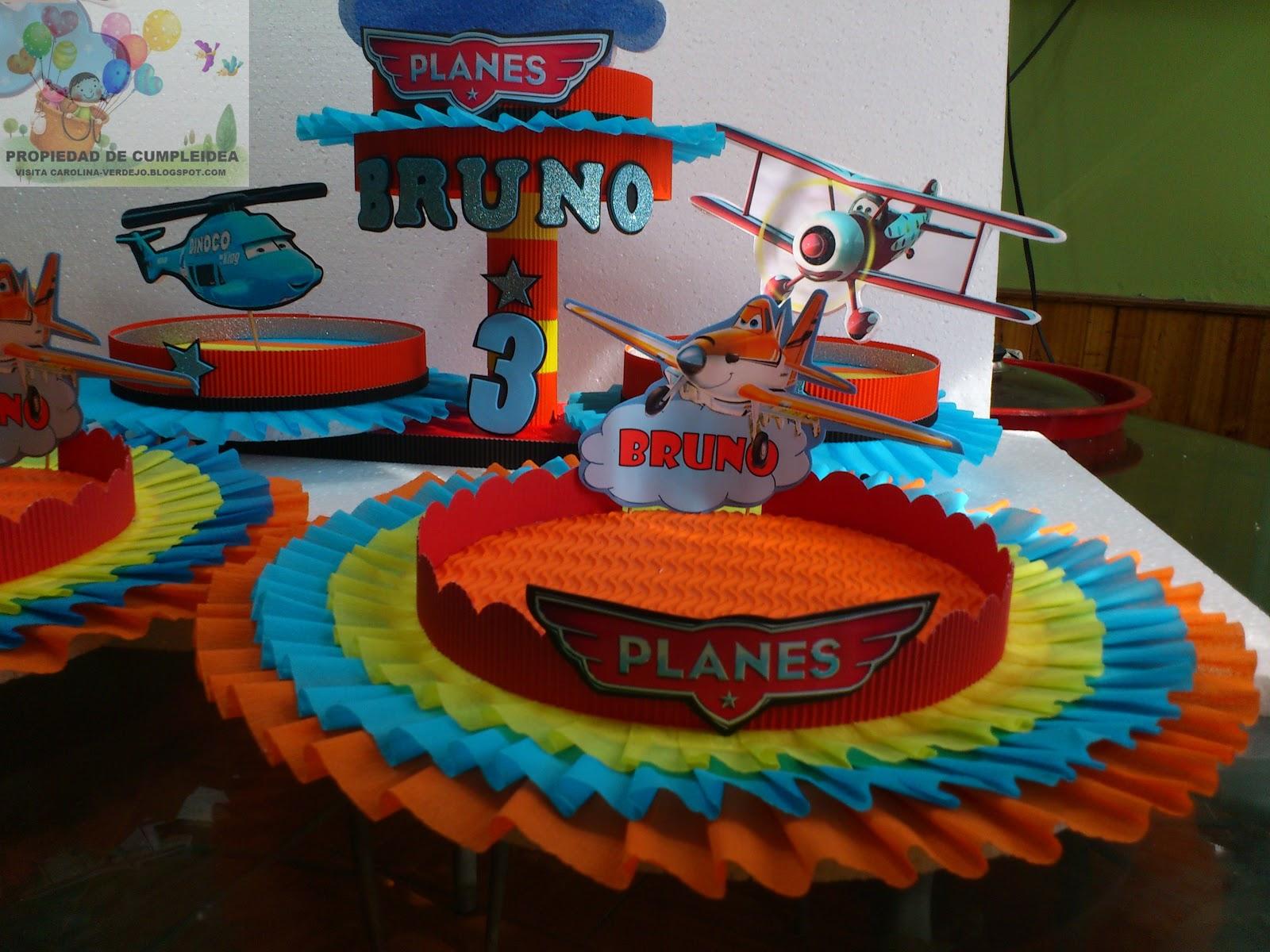 Decoraciones infantiles aviones planes disney auto - Decoraciones para cumpleanos infantiles ...