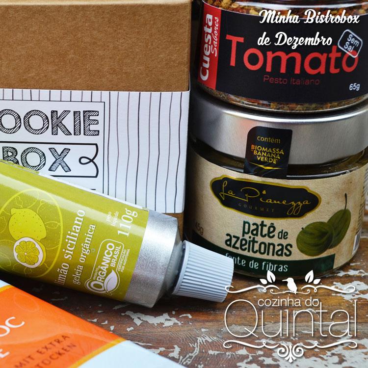 Só produtos top na Bistrobox de Dezembro na Cozinha do Quintal