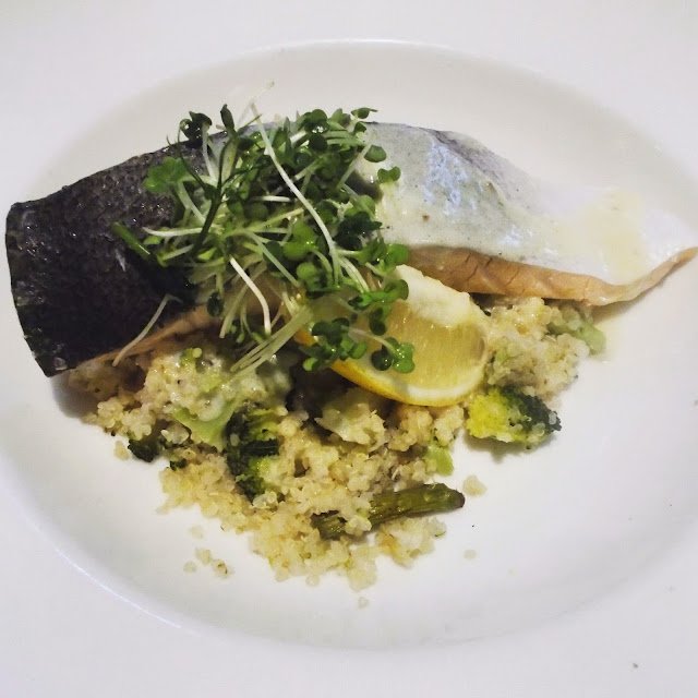 Weekly Reflect #51 // Salmon and quinoa at The Plough Inn, Hillsborough!