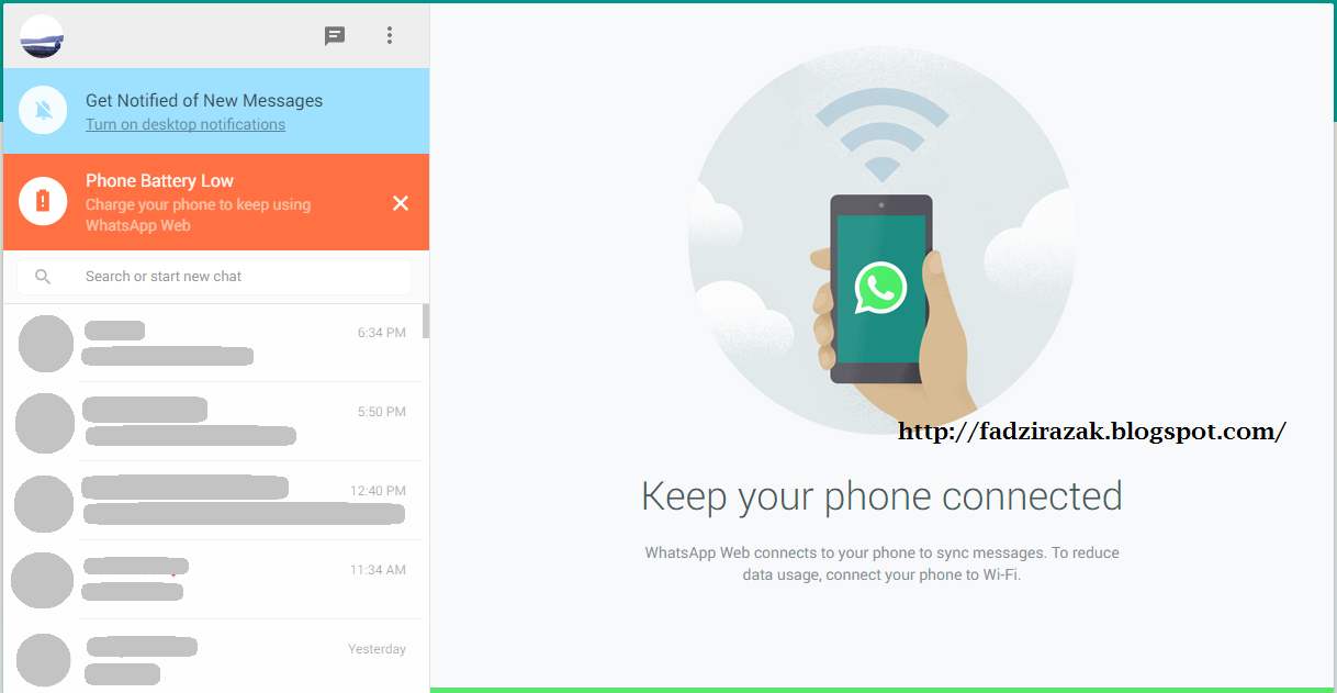 Whatsapp web version