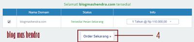 Tampilan Pesanan Nama Domain - Blog Mas Hendra
