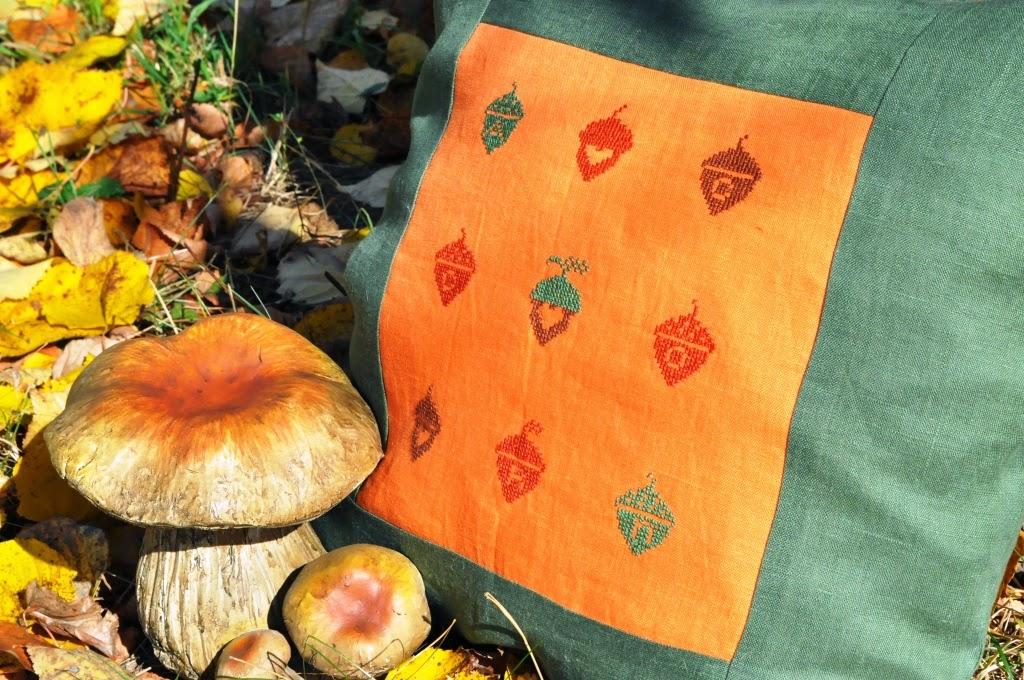 осень, вышивка крестиком