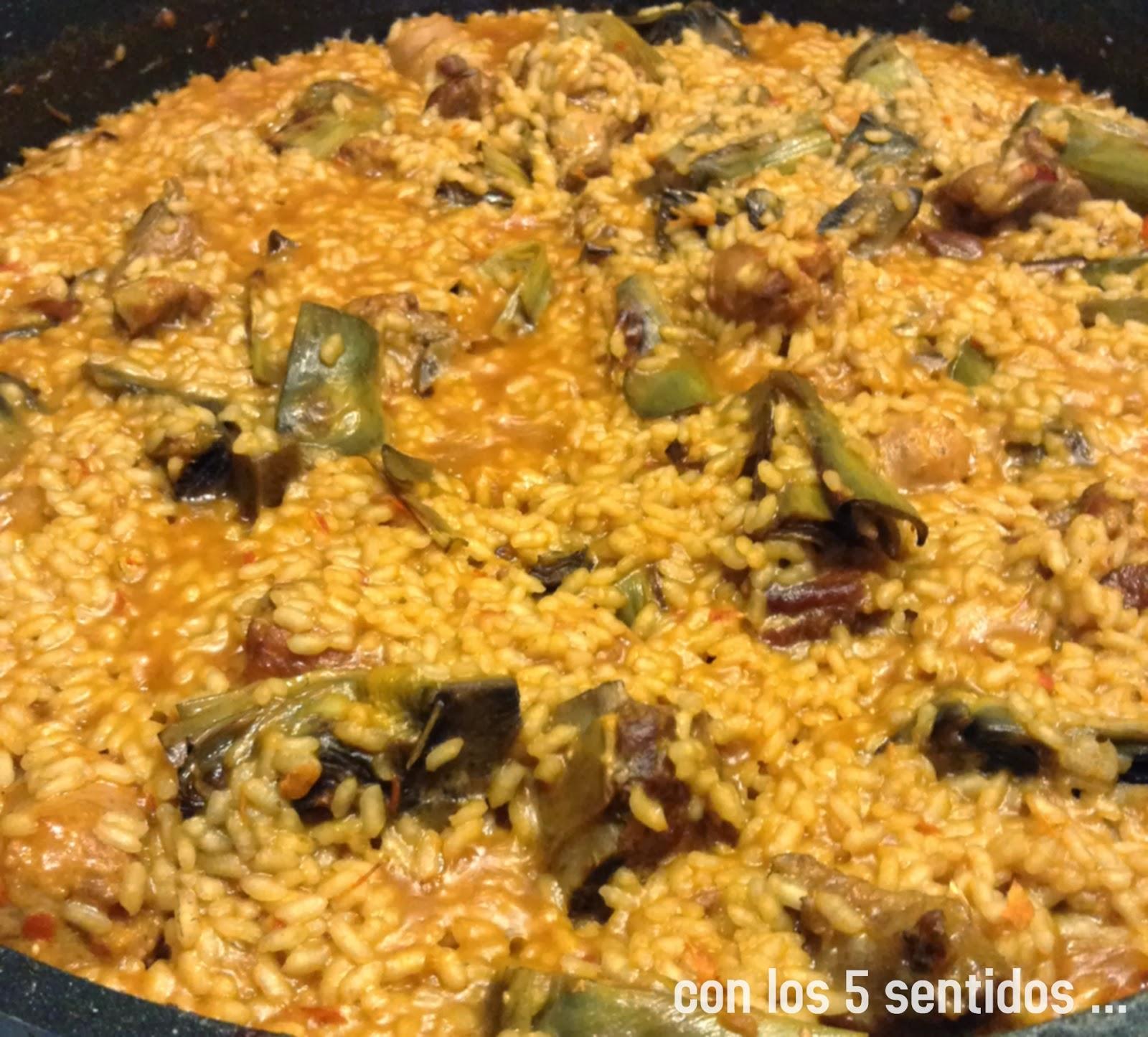 Con los 5 sentidos amb els 5 sentits arroz con - Arroz caldoso con costillas y alcachofas ...