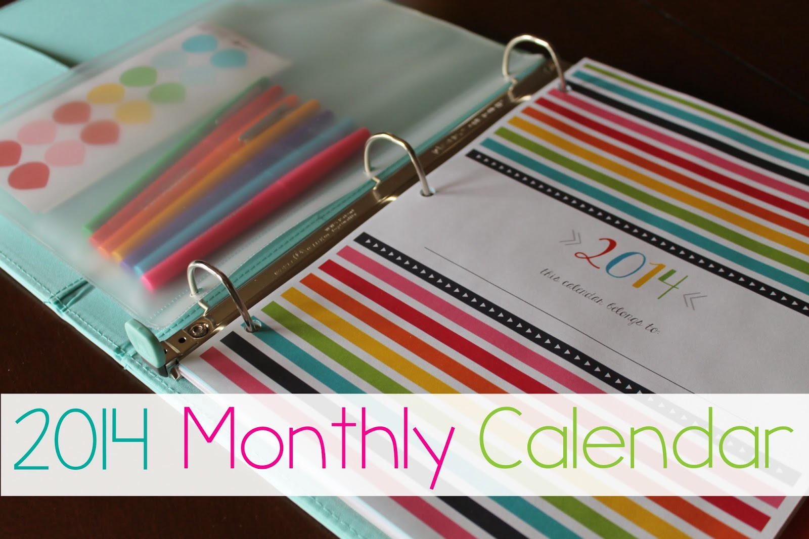 Colorful January 2014 Calendar Printable Y'all know i love colorful