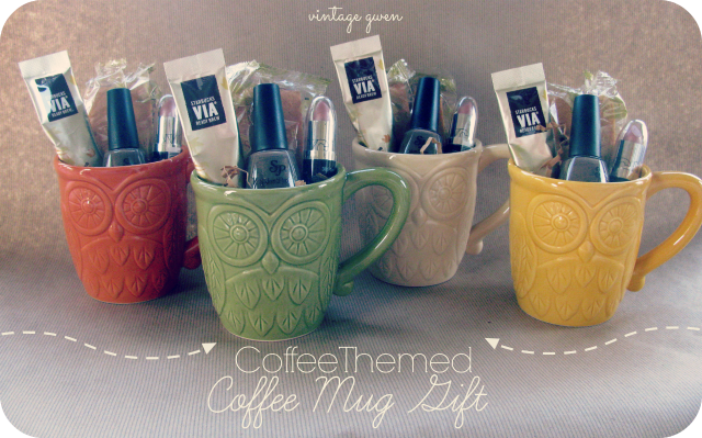 Vintage Gwen Coffee Themed Coffee Mug Gift