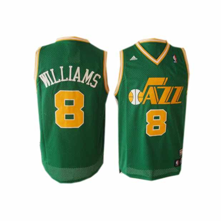 williams jersey utah jazz 8 green nba jersey choosing the jersey or