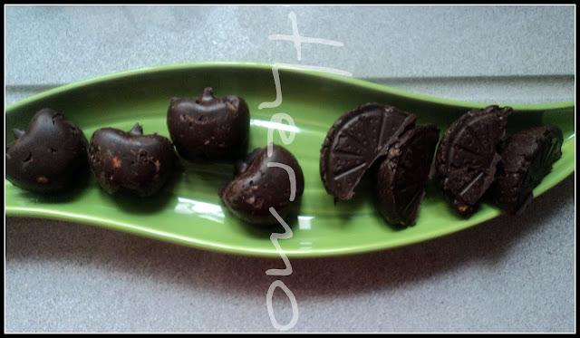 Bombones de pistachos sin azúcar