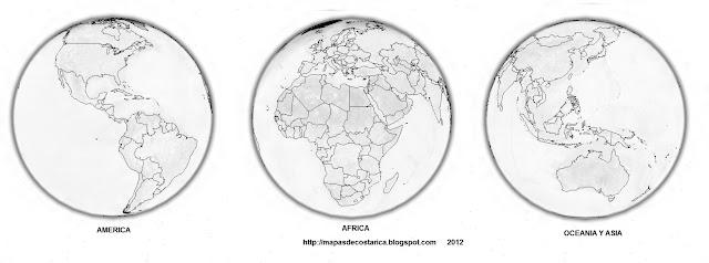 La Tierra, vista nocturna del google earth, blanco y negro