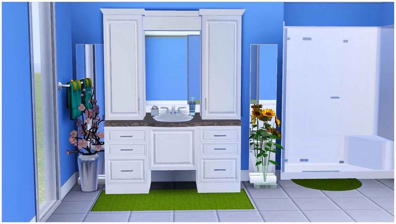 My sims 3 blog homespa bathroom collection one by eris3000 for Bathroom ideas sims 3