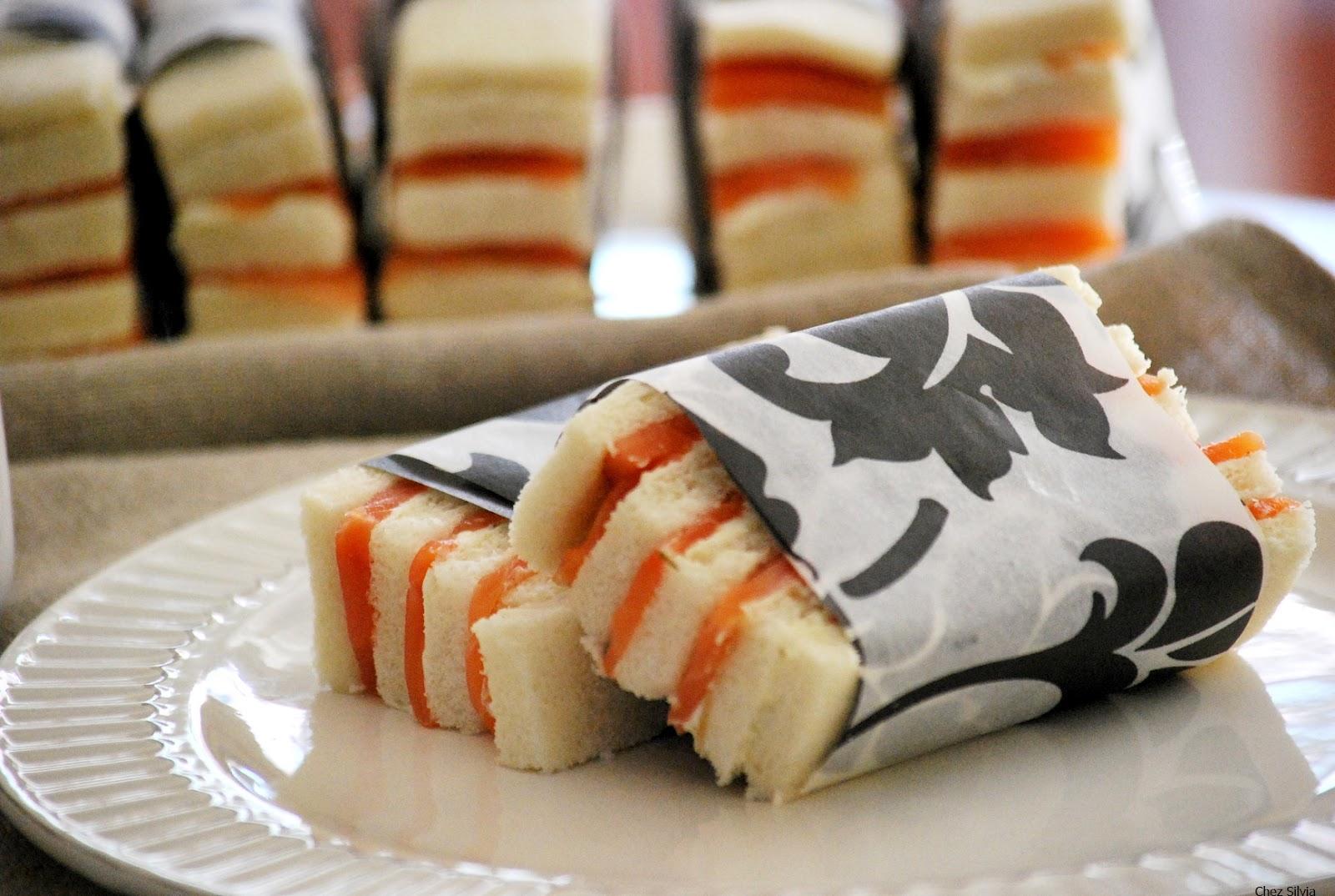 Canap de salm n ahumado con crema de queso y mostaza de for Canape de salmon ahumado