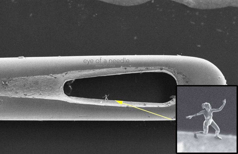 Físico crea la más minúscula escultura de forma humana jamás hecho