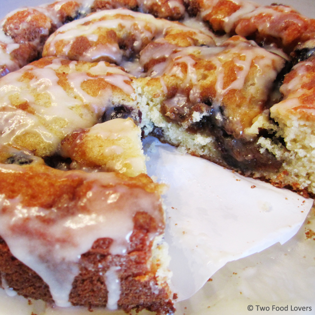Blueberry Streusel Coffee Cake by Two Food Lovers