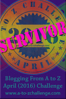 2016 A to Z Blogging Challenge Survivor!