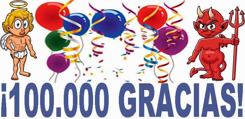 Superamos la mítica cifra de 100.000 visitas (páginas vistas) al mes en el blog.