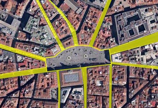 Urban networks el sistema solar de madrid 1 la for Kilometro 0 puerta del sol