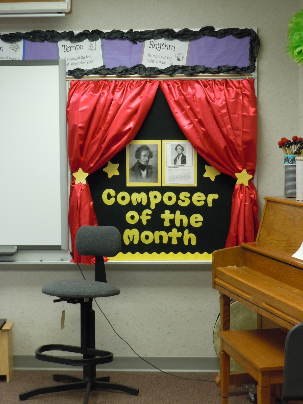 Music Teacher Classroom Decorations ~ So la mi music new quot composer of the month board