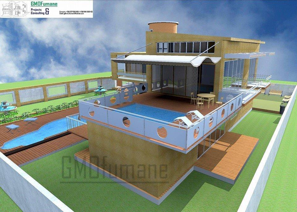 Casa moderna tipo 3 gmofumane projectos e consultoria for Plantas de casas tipo 3 modernas