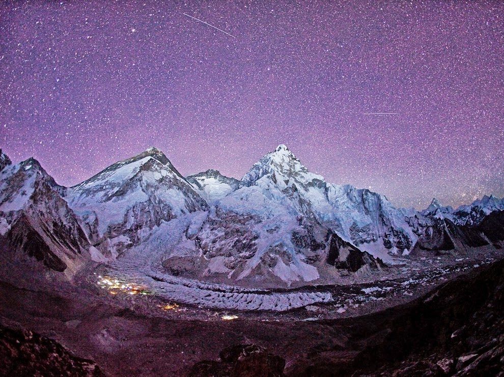 Mount Everest Night stars