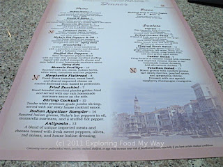 Nicolinni's Menu Front Side Bottom
