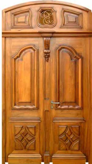 New collection kerala model wooden front door double for Wood front entry doors