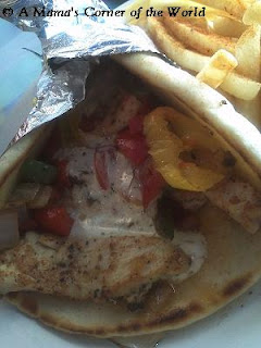 Chicken Kebob Pita at Mykonos Taverna Gahanna Ohio