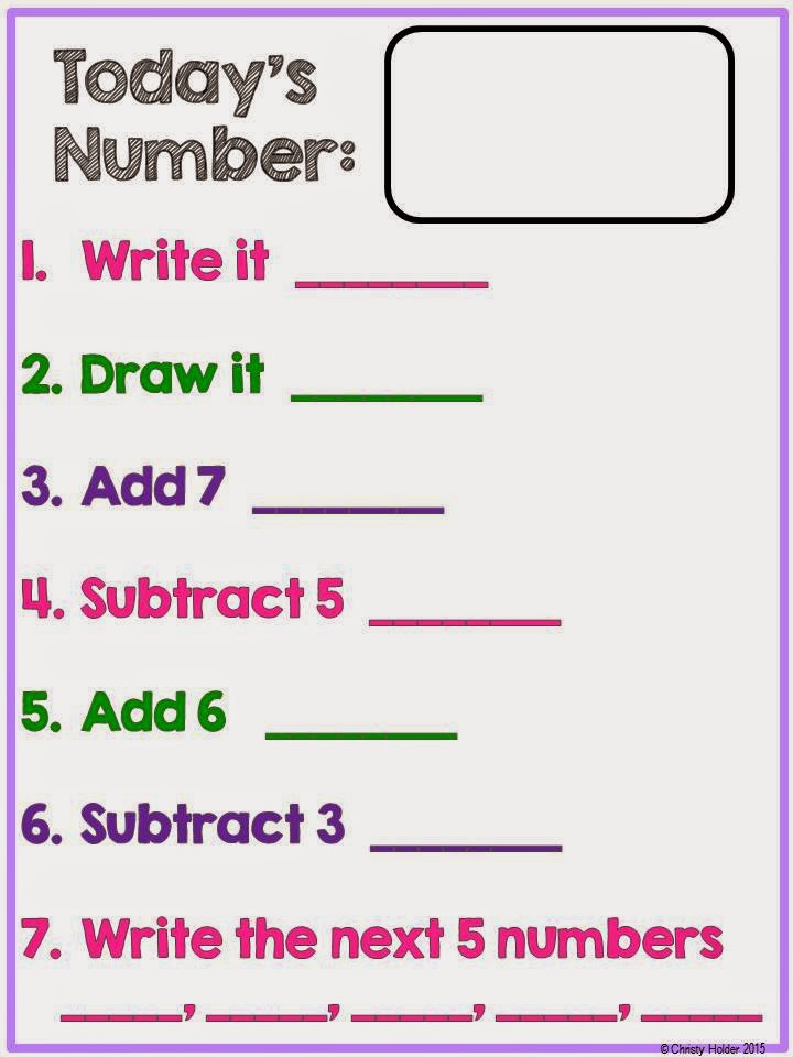 http://www.teacherspayteachers.com/Product/Todays-Number-1629756