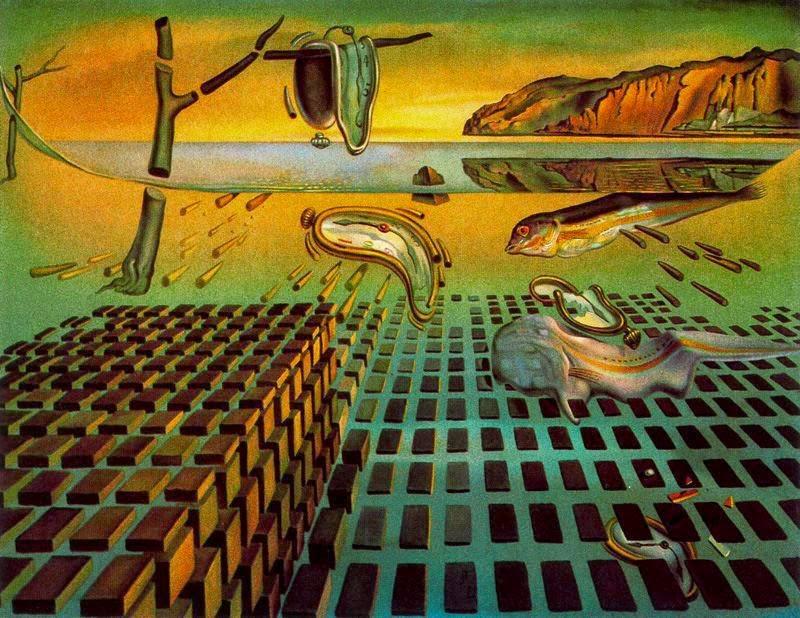 desintegración de La Persistencia de la Memoria - Salvador Dalí