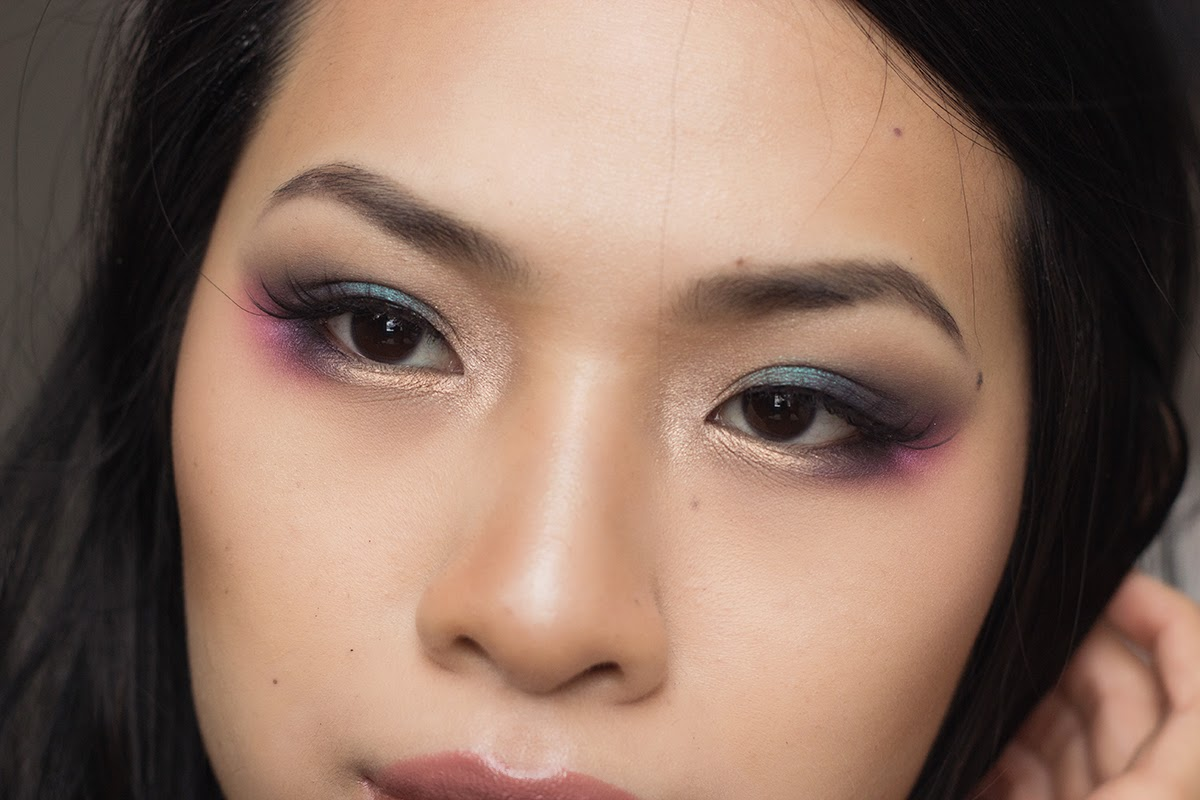 sugarpill precious lashes, mac soot, urban decay electric palette, motives midnight, jewel toned makeup