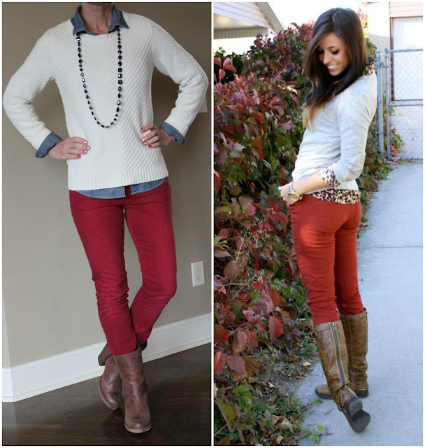 Outfit inspiration from Robyn Vilate, how to wear animal print, red jeans, what to wear for fall, outfit inspiration