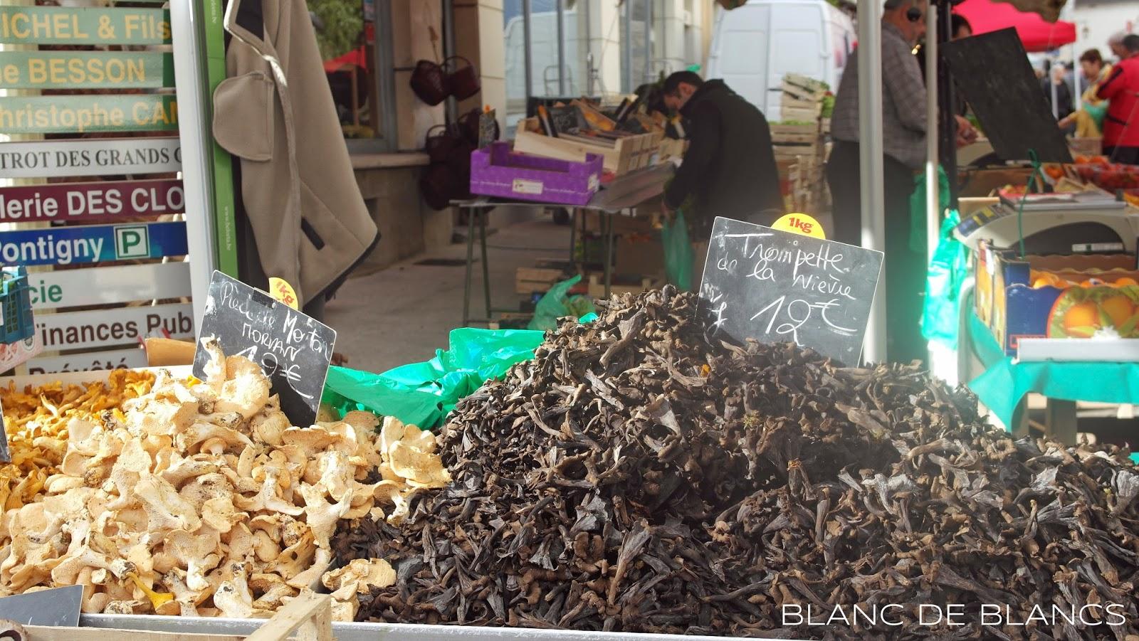 Sieniä ranskalaisilla markkinoilla - www.blancdeblancs.fi