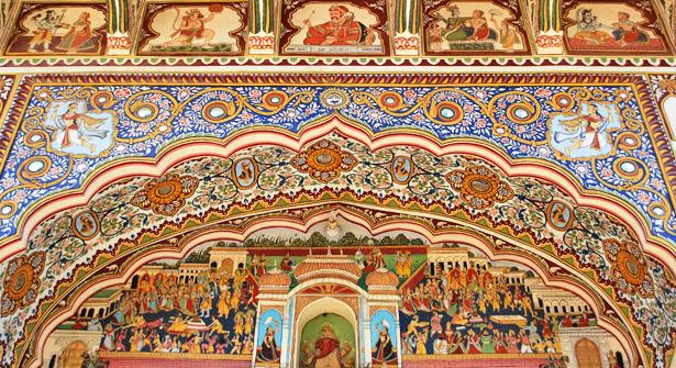 fresco painting in nagaur rajasthan