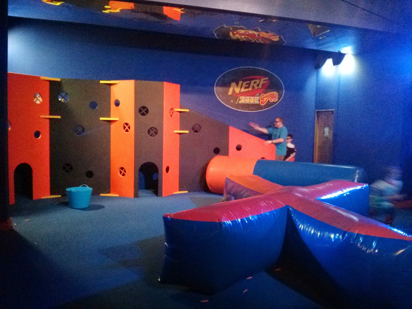 Daddy invading a base at the Nerf Party Gullivers Land Milton Keynes
