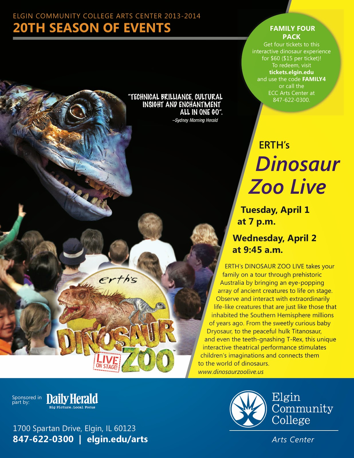 Chiil mama march 2014 chiil out with a special family discount for dinosaur zoo live fandeluxe Image collections