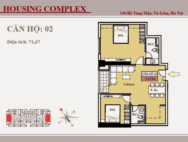 136 Hồ Tùng Mậu - Vinaconex 7 - Housing Complex - CH02