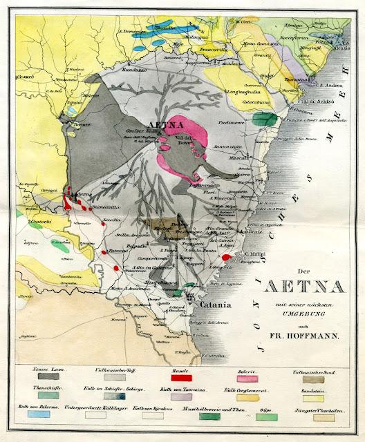 Der Aetna mit seiner nächsten Umgebung nach Fr. Hoffmann  from Vulkanen-Atlas zur Naturgeschichte der Erde. [Stuttgart] [E. Schweizerbart] 1844